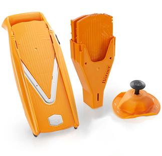 V5 Gemüsehobel Set mit Schieberbox und Fruchthalter - orange